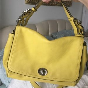 RARE yellow Coach shoulder/crossbody bag